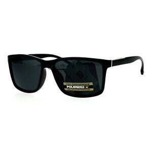 Mens Anti-glare Polarized Lens Sport Rectangular Horned Luxury Sunglasses