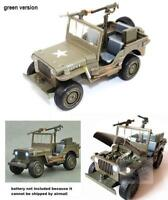 1/24 willys military army jeep sound light works diecast toy  ship after Feb 6th