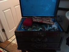 Asian Jewelry Box/Trinkets 24 X 10 3 Drawers