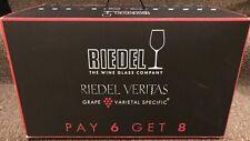 Riedel Veritas Cabernet/Merlot and Chardonnay/Viognier Glasses Pay 6 Get 8 BNIB