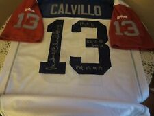 RARE MONTREAL ALOUETTES ANTHONY CALVILLO SIGNED JERSEY W/PROOF & 3 INSCRIPTIONS