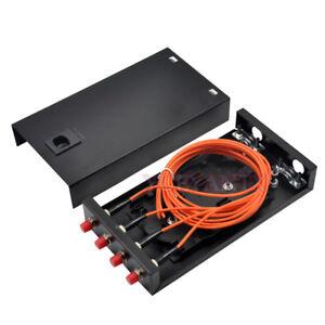 Fiber Optic Terminal Box 4 core Desktop FC Multi-Mode Adapter Pigtail 4 Ports