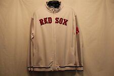 Boston Red Sox Stitches Wordmark Brushed Track Jacket - White - MLB XXL