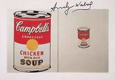 ANDY WARHOL HAND SIGNED SIGNATURE * CAMPBELL'S SOUP *  PRINT  W/ C.O.A.