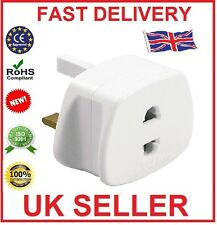 EU 2 Pin To 3 Pin UK ELECTRIC SHAVER TOOTHBRUSH PLUG ADAPTOR/PLUG