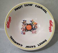 "Vtg Kellogg's Sweet Eatin' Carnival Breakfast Characters 7"" Cereal Bowl"