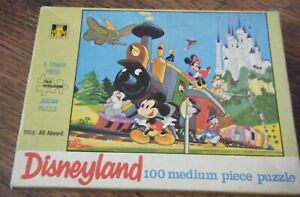 A TOWER PRESS DISNEYLAND - ALL ABOARD - 100 PIECE PUZZLE MICKY  MOUSE MINNIE