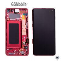 Display Pantalla LCD Touch Marco Ecra Samsung Galaxy S10 G973F Red ORIGINAL