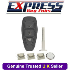 Ford 3 Button Remote Key Fob Case Repair Kit Fits Fiesta Focus Kuga Mondeo B-Max