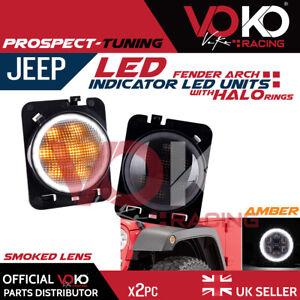 2 x Turn Signal Fender Indicator LED Halo Lights Jeep Wrangler TJ YJ JK JL VKOV9