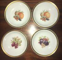 4 Vintage Golden Crown E&R Orchard Fruit Bowls