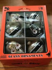 "Christopher Radko Shiny Brite Halloween Ornaments Box of 6 3.5"" 2017 New!"