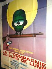 LA 7ème compagnie AU CLAIR DE LUNE p mondy lefebvre affiche cinema 1977