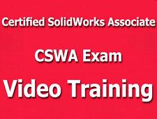 Certified SolidWorks Associate CSWA Video Training Tutorials CBT