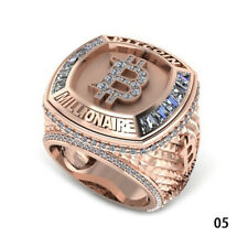 Metal Ring Jewelry Gift P2 Punk Style Fashion Handcraft Carved GoldBitcoin