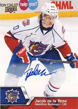 2014-15 Upper Deck AHL JACOB DE LA ROSE Autograph Auto #61 Bulldogs Canadiens