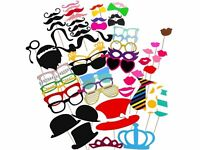 60pcs Adults Kids Photo Booth Props Party Supplies Funny Face Picture Selfie Fun