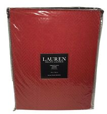 "Ralph Lauren Round Tablecloth 70"" Red Christmas Herringbone Solid Holiday"