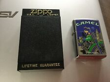 VINTAGE ZIPPO 1996 JOE CAMEL MOON AND MOTORCYCLE LIGHTER NEW SEALED # 294