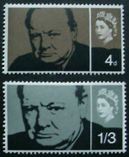 GREAT BRITAIN 1965: CHURCHILL COMMEMORATION: SET OF 2 MNH STAMPS