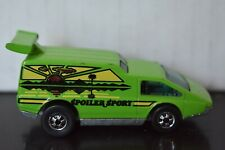 """1976 Hot Wheels """"Spoiler Sport"""" Flying Colors Green Great Condition! Vintage"""