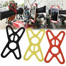 Universal Silicone Elastic Bicycle Motorcycle Bike Mount Holder Fit Mobile Phone