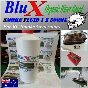 BluX Water Based Organic Smoker Fluid  500 ml Model Boat Tank Trains Trucks