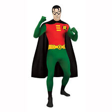 Batman's Robin 2nd Skin Adult Costume Large Morph Suit Full Bodysuit DC Comics