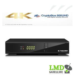 *NEW* 4K AB CryptoBox 800 UHD 4K H.265 HEVC 1xDVB-S2X 1xCA Slot 2xUSB LAN HDR10