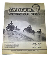 Vintage Indian Motorcycle News April May 1942 New Old Stock US Army Image