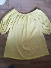 Yellow Off The Should 3/4 Sleeve Baggy Dress Size 14