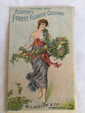 Antique Victorian Trading Card, Austen's Forest Flower Cologne, Advertising NY