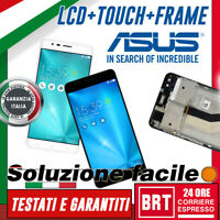 DISPLAY LCD+TOUCH SCREEN+FRAME ORIGINALE ASUS ZENFONE 3 ZOOM ZE553KL Z01HD VETRO