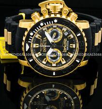 Invicta Men Sea Hunter Torpedo Ocean Master Swiss Chrono 18Kt Gold Black Watch