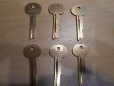 Safety Deposit Box Key Blanks S & G Lefebure 1068E mix, Set of 6 - Locksmith