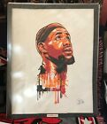 """Lebron James Oil Painting on Canvass 20"""" x 24"""" #LJ01"""