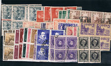 España. Ficha conteniendo sellos en bloque de 4