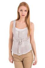 DIESEL BLACK GOLD Size 38 / XS Women's CERVY 100% Silk See Through Top