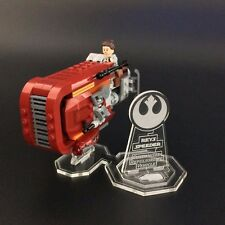 Display stand for LEGO Star Wars: Rey's Speeder (75099)