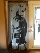 HERITAGE LACE BLACK HALLOWEEN WITCH DOOR/CURTAIN PANEL A8