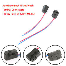 2Pc Auto Door Lock Micro Switch Teminal Connectors For VW Passt B5 Golf 4 MK4 SP