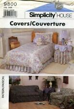 Simplicity Sewing Pattern 9800 House Slip Covers Sofa Chair Overskirt