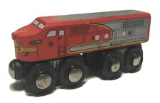 Lionel Wooden Train Santa Fe Engine - Heritage Series Fits BRIO & Thomas
