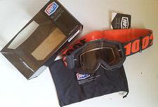 100% Por Cien MX Motocross Gafas TRANSPARENTE ACCURI Gunmetal para PORTAGAFAS