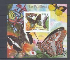 5 Blocks Schmetterlinge Butterfly Comores Komoren - private Ausgabe