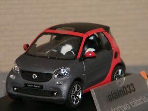 Smart Fortwo Cabrio Titania Gris / Red Norev 1/43 Ref B66960286
