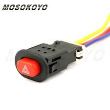 Universal Motorcycle Accident Hazard Light plug Lamp Switch ON/OFF Button 3 Wire