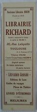 Antique Brand Pages Bookmark Advertising Bookstore Richard in Toulouse Clockwork