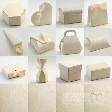 Diamante Ivory Wedding Favour Gift Boxes Craft DIY