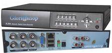 DVR VIDEOREGISTRATORE DIGITALE 4 CH H 264 LAN VGA AUDIO